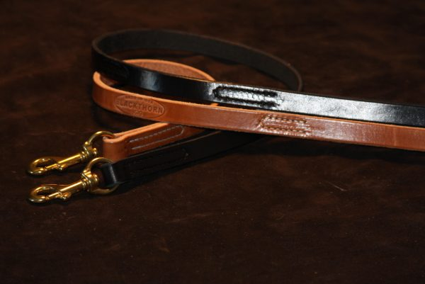 "Lock Stitch Leather Lead 3/4x72""-429"