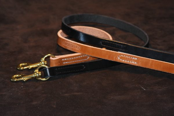 "Lock Stitch Leather Lead 3/4x72""-430"