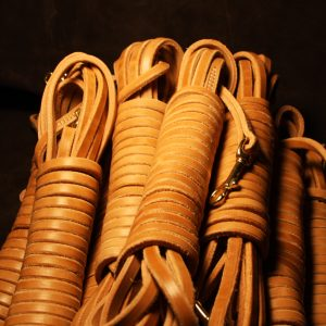 """1/2"""" x 30' Leather Tracking Line-0"""
