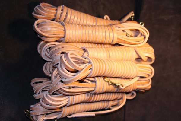 """1/2"""" x 30' Leather Tracking Line-567"""