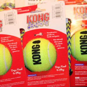 Air Dog KONG Squeaker Ball with Rope-0