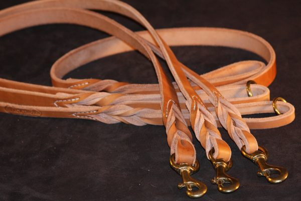 Braided Lead - Heavy Harness Leather 3/4''-520