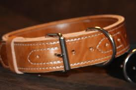 1 1/4'' Wide Single Layer Leather Collar-0