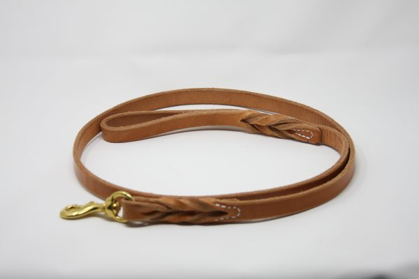 Braided Lead - Heavy Harness Leather 3/4''-836