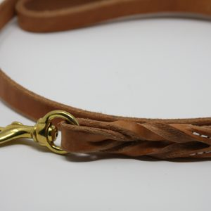 Braided Lead - Heavy Harness Leather 3/4''-0