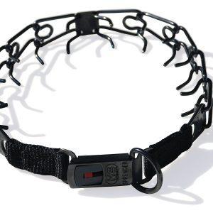 Herm Sprenger 3mm Cliclock Buckel Pinch Collar - Black Stainless Steel-0