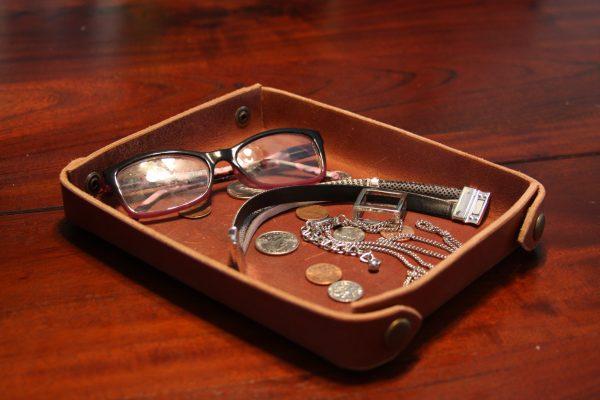Custom Leather Valet Tray,-706