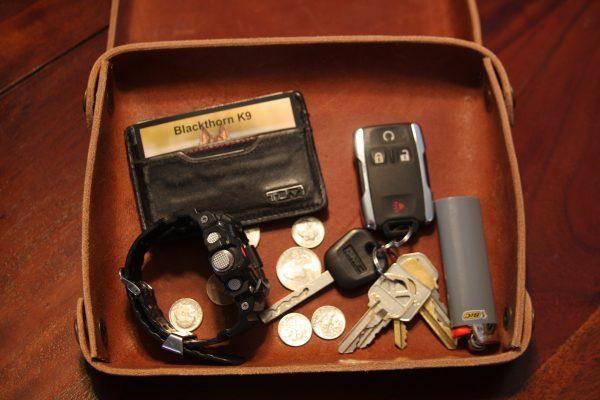 Custom Leather Valet Tray,-708