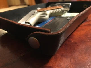 Custom Leather Valet Tray,-645