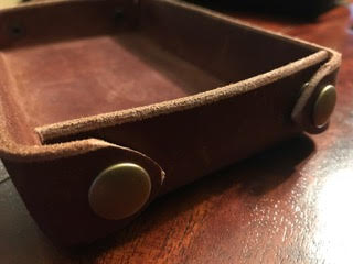 Custom Leather Valet Tray,-641