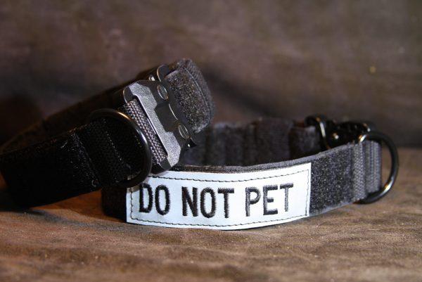 1.5'' Black Nylon Id Collar w/Plastic Cobra buckle-760