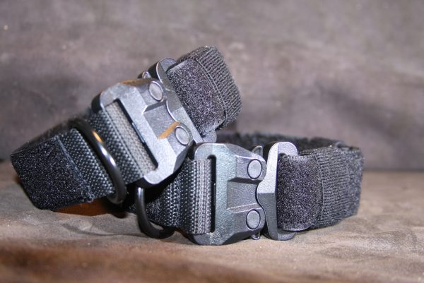 1.5'' Black Nylon Id Collar w/Plastic Cobra buckle-0