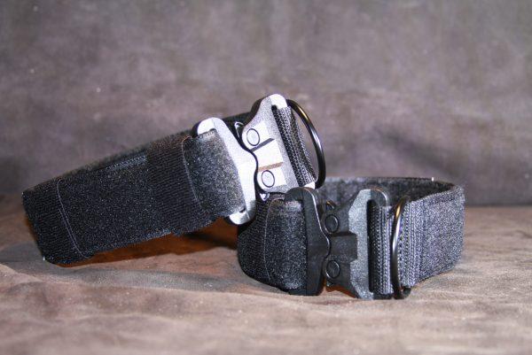 1.5'' Black Nylon Id Collar w/Plastic Cobra buckle-759