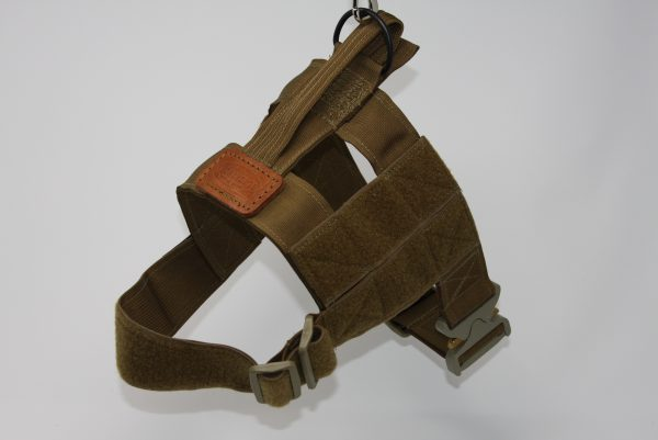 "2"" Mil-Spec Nylon Patrol Harness with metal cobra buckle in Coyote-807"