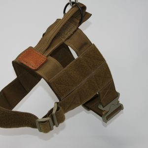 "2"" Mil-Spec Nylon Patrol Harness with metal cobra buckle in Coyote-0"