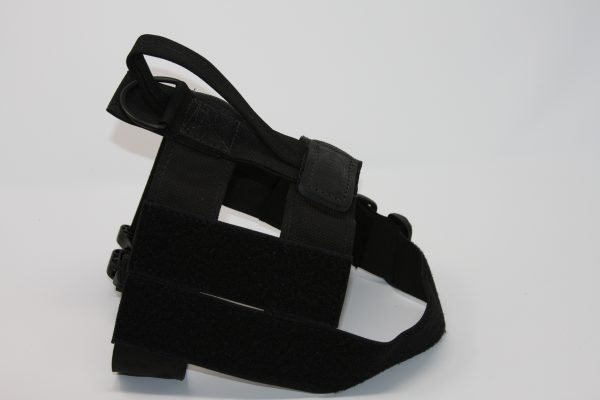 2'' Black Nylon Patrol Harness with Metal Cobra Buckle-0