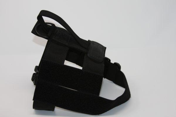 2'' Black Nylon Patrol Harness with Plastic Crobra Buckle-805