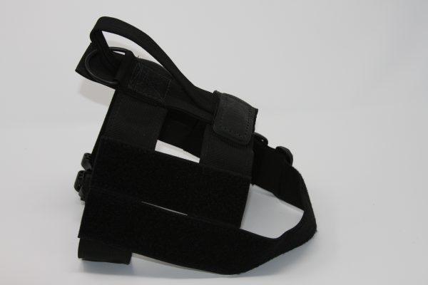 2'' Black Nylon Patrol Harness with Plastic Crobra Buckle-804