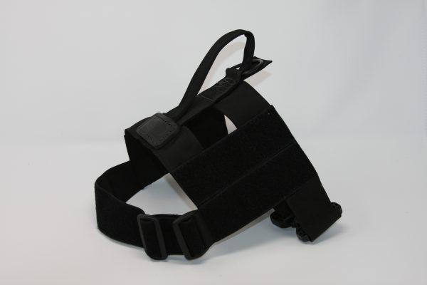 2'' Black Nylon Patrol Harness with Plastic Crobra Buckle-0