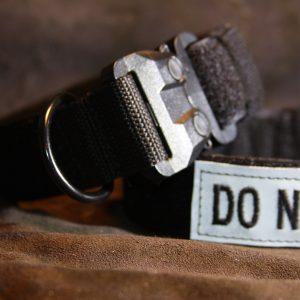 2'' Black Nylon Id Collar w/plastic buckle-0